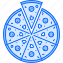 cucumber, food, mushroom, pizza, restaurant, salami icon