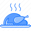 cafe, chicken, cooking, food, restaurant, steam, turkey icon