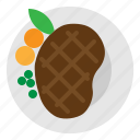 food, grill, steak, meat icon