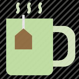 herbal, hot, organic, tea icon