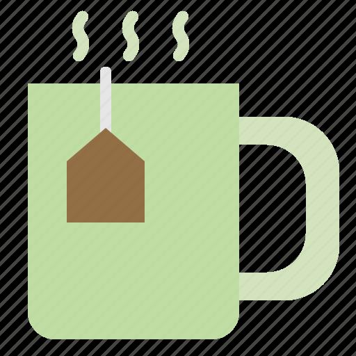 Herbal, tea, hot, organic icon