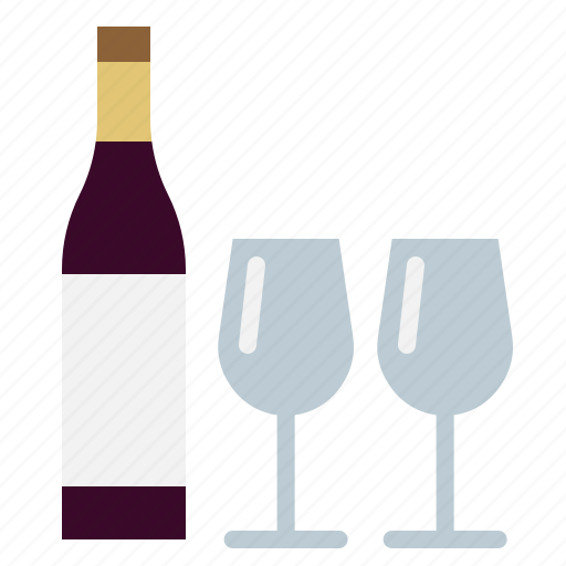 alcohole, drink, romantic, valentine, wine icon