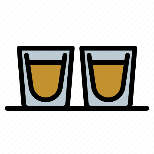 alcohol, drink, glass, shot icon