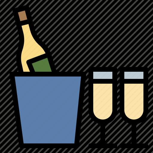 champagne, congratulation, drink, restaurant icon