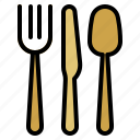 cutlery, fork, knife, spoon