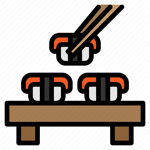 food, japanese, restaurant, seafood, sushi icon