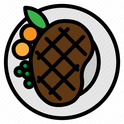 food, grill, meat, steak icon