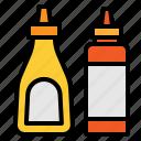 bottle, ketchup, sauce