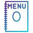 food, list, menu, restaurant icon