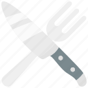 fork, knife, restaurant, service icon