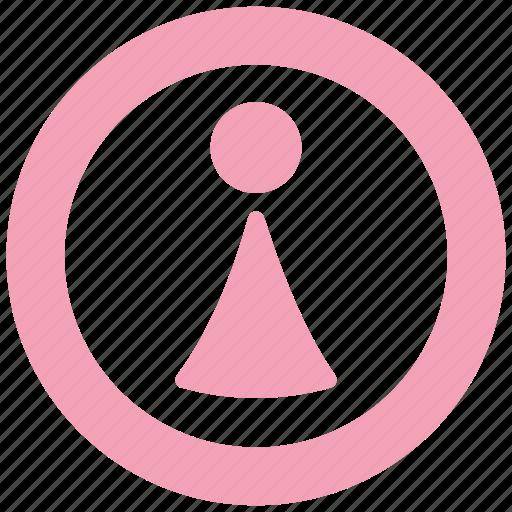 female, restaurant, service, sign, toilet, women icon