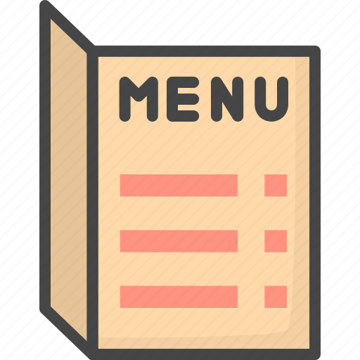 filled menu outline restaurant service icon