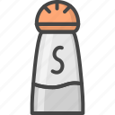 filled, outline, restaurant, salt, service, shaker