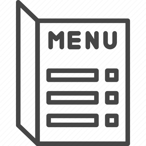 line menu outline restaurant service icon