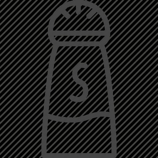 Line, outline, restaurant, salt, service, shaker icon - Download on Iconfinder