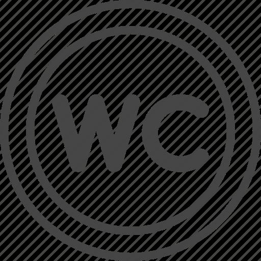 Line, outline, restaurant, service, sign, toilet, wc icon - Download on Iconfinder