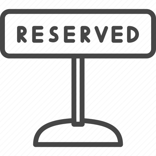 line, outline, reserved, restaurant, service icon
