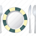 food, fork, knife, plate, restaurant, spoon, vegan icon