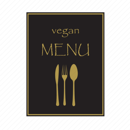list, menu, note, paper, restorant, vegan icon