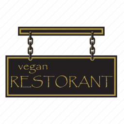 direction, restoran, shape, sign, symbols, vegan icon