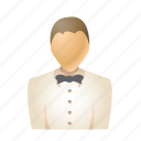 avatar, man, person, restaurant, service, user, waiter icon