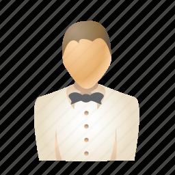 avatar, man, person, restaurant, service, user, waiter icon
