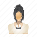 avatar, female, girl, user, waitress, woman icon