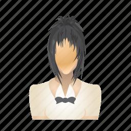 avatar, female, girl, user, waitress, woman icon