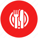 dish, eat, fork, knife, lunch, plate icon