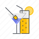 beverage, cocktail, cocktails, drink, glass icon