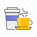 beverage, coffee, cup, drink, mug, tea icon