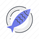 fish, food, ocean, restaurant, sea icon