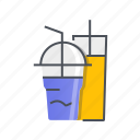 beverage, cup, drink, milkshake, restaurant icon
