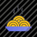 noodle, noodles, pasta, spaghetti icon