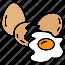 breakfast, eggs, food, fried, omelet, kitchen, meal