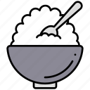 bowl, cooking, food, meal, restaurant, rice, kitchen