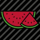 food, fruit, organic, vegetarian, watermelon, melancia, slice