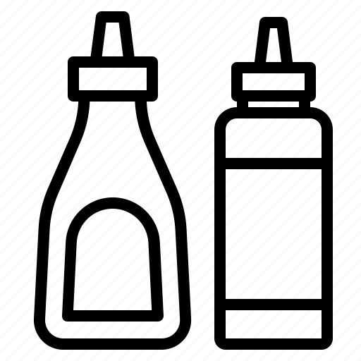 bottle, ketchup, sauce icon