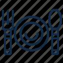 dish, element, food, fork, kitchen, restaurant, spoon