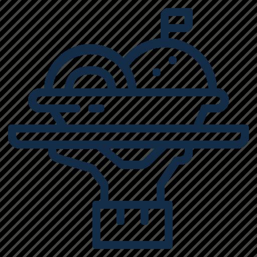 element, food, kitchen, plate, restaurant, served, tray icon