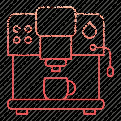 coffee, equipment, kitchen, kitchenware, machine, restaurant icon