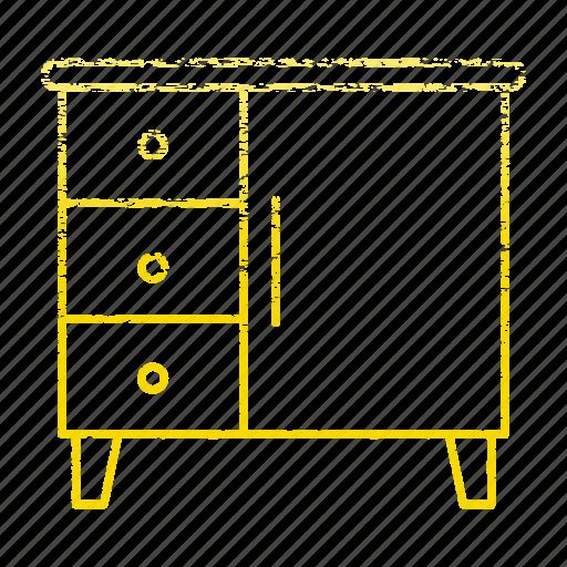 equipment, kitchen, kitchenware, restaurant, steel, table, work icon