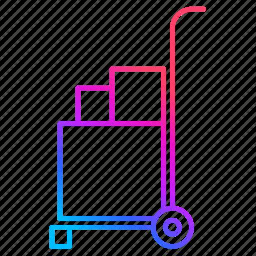 shipping, storage, transportation, truck icon