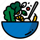 bowl, food, mix, mixing icon