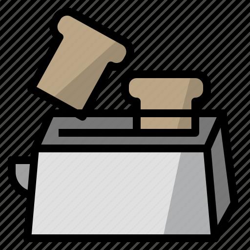 bake, bread, toast, toaster icon
