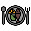 course, food, main, plate, restaurant icon