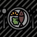 plate, main, food, course, restaurant