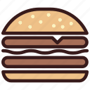 burger, cheeseburger, food, hamburger
