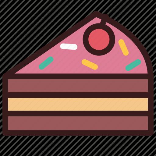 baker, bakery, cake, dessert, food, sliced icon