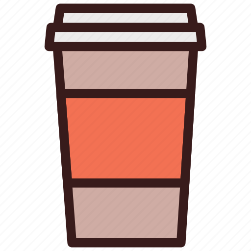 coffee, cup, drink, glass, paper icon